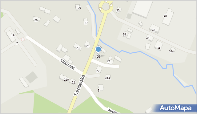 Limanowa, Tarnowska, 26, mapa Limanowa