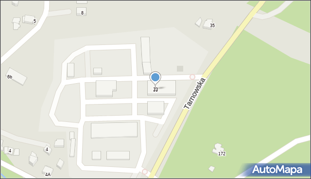 Limanowa, Tarnowska, 33, mapa Limanowa