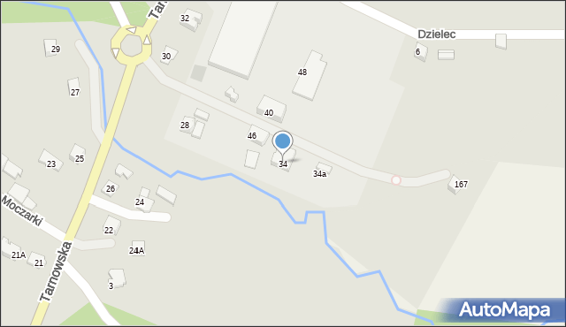 Limanowa, Tarnowska, 34, mapa Limanowa