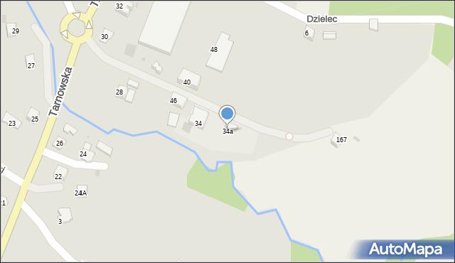 Limanowa, Tarnowska, 34a, mapa Limanowa