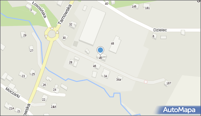 Limanowa, Tarnowska, 40, mapa Limanowa