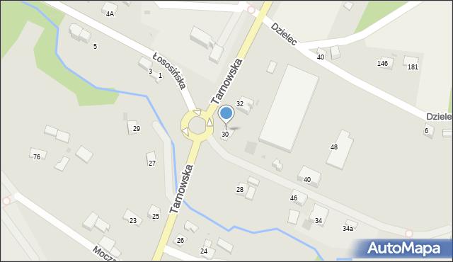 Limanowa, Tarnowska, 42, mapa Limanowa