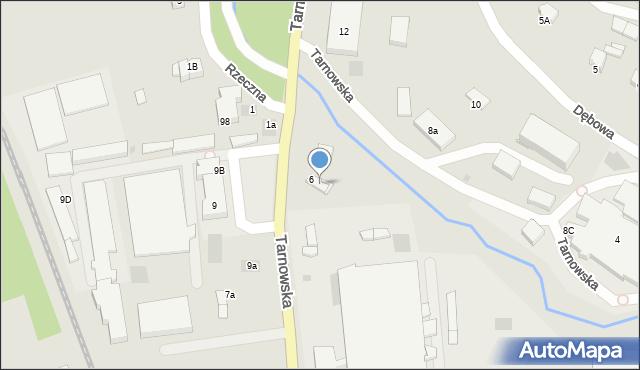 Limanowa, Tarnowska, 6a, mapa Limanowa