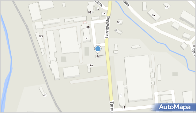 Limanowa, Tarnowska, 9a, mapa Limanowa