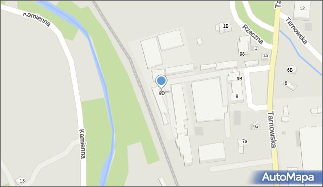 Limanowa, Tarnowska, 9D, mapa Limanowa