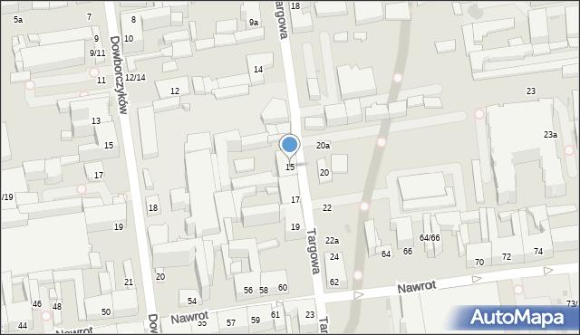 Łódź, Targowa, 15, mapa Łodzi