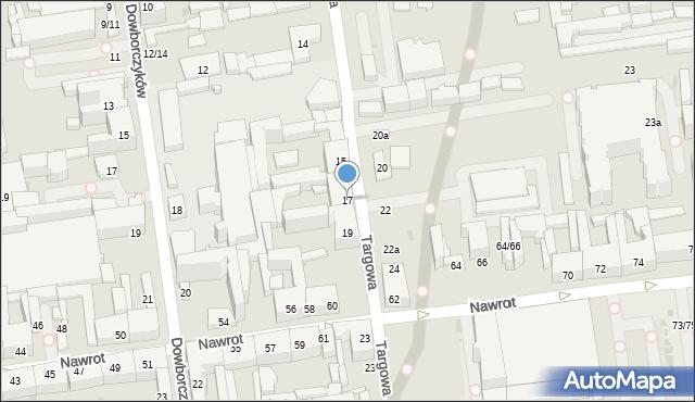 Łódź, Targowa, 17, mapa Łodzi