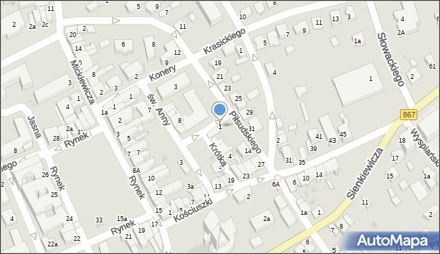 Lubaczów, Targowa, 1, mapa Lubaczów