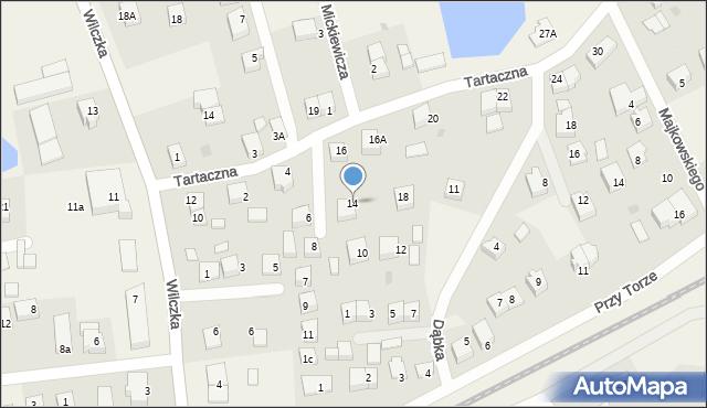Luzino, Tartaczna, 14, mapa Luzino
