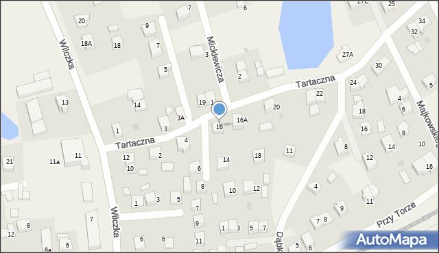 Luzino, Tartaczna, 16, mapa Luzino