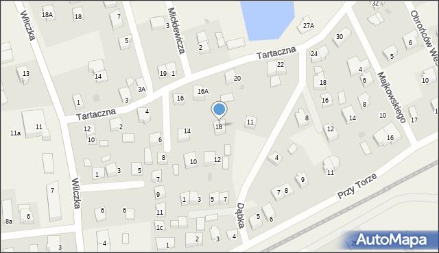Luzino, Tartaczna, 18, mapa Luzino