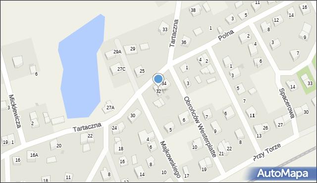 Luzino, Tartaczna, 32, mapa Luzino