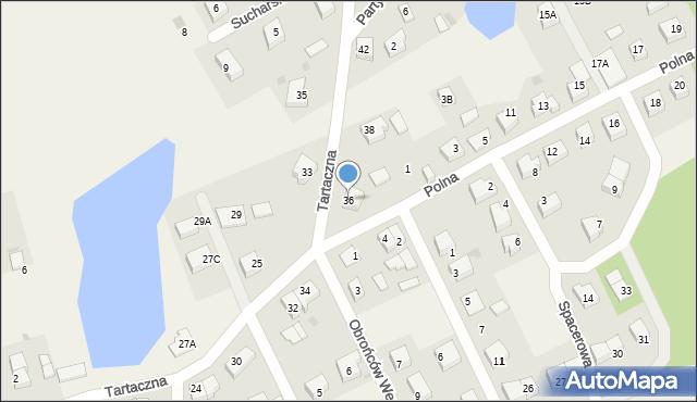 Luzino, Tartaczna, 36, mapa Luzino