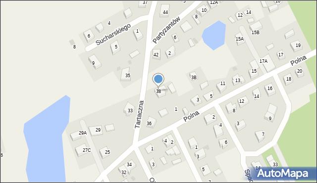 Luzino, Tartaczna, 38, mapa Luzino