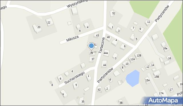 Luzino, Tartaczna, 39, mapa Luzino