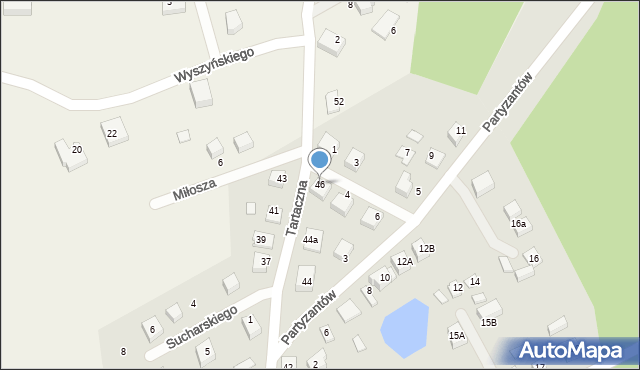 Luzino, Tartaczna, 46, mapa Luzino
