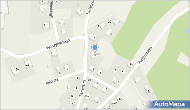 Luzino, Tartaczna, 52, mapa Luzino