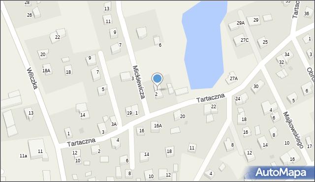 Luzino, Tartaczna, 5A, mapa Luzino
