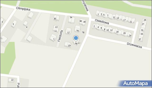 Luzino, Tartaczna, 75, mapa Luzino