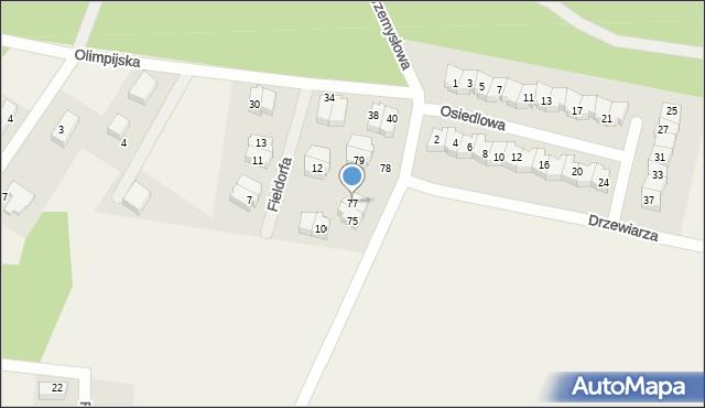 Luzino, Tartaczna, 77, mapa Luzino