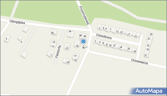 Luzino, Tartaczna, 78, mapa Luzino