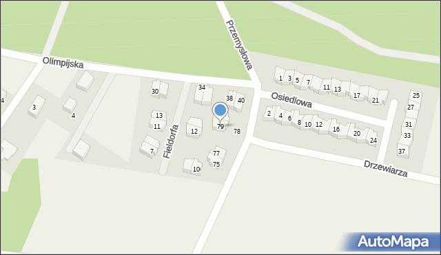 Luzino, Tartaczna, 79, mapa Luzino