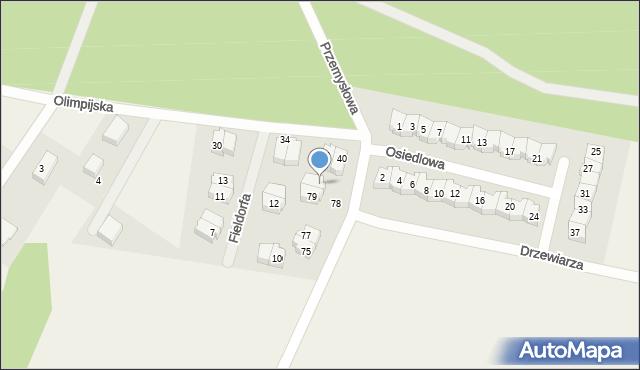 Luzino, Tartaczna, 81, mapa Luzino