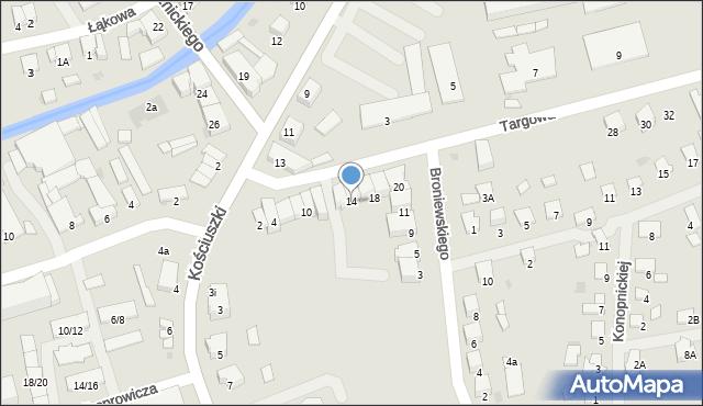 Olecko, Targowa, 14, mapa Olecko