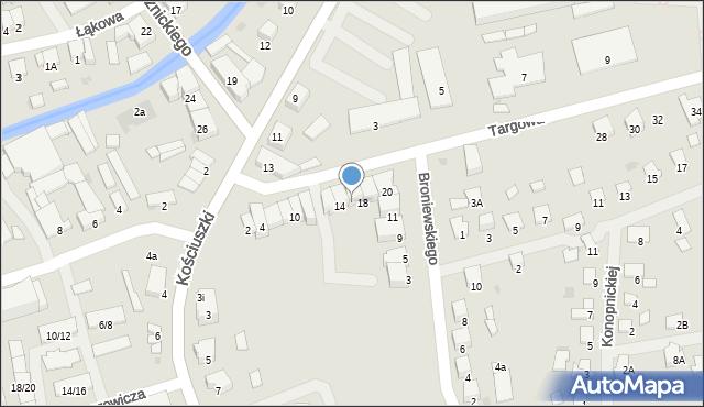 Olecko, Targowa, 16, mapa Olecko