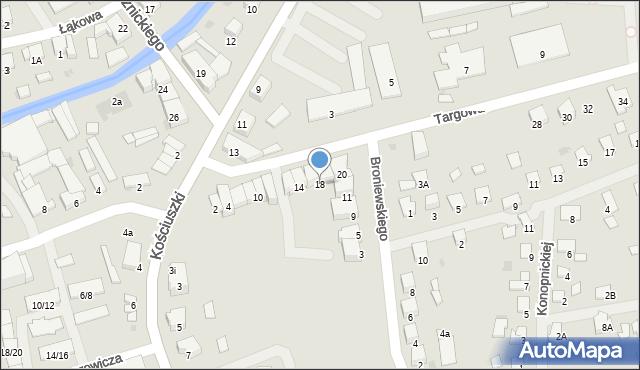 Olecko, Targowa, 18, mapa Olecko