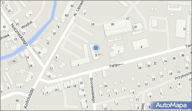 Olecko, Targowa, 5, mapa Olecko