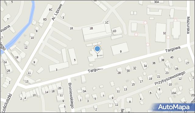 Olecko, Targowa, 7, mapa Olecko