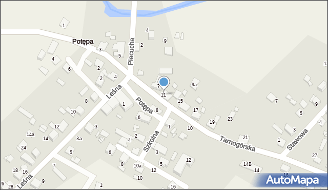 Potępa, Tarnogórska, 11, mapa Potępa
