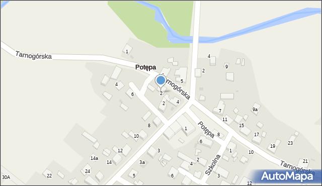 Potępa, Tarnogórska, 2, mapa Potępa