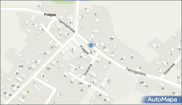 Potępa, Tarnogórska, 8, mapa Potępa