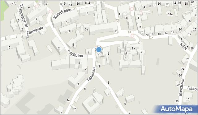 Przemyśl, Tatarska, 1, mapa Przemyśla