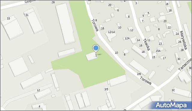 Radom, Tartaczna, 1, mapa Radomia