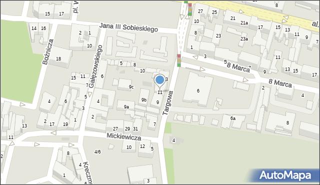 Rzeszów, Targowa, 11, mapa Rzeszów