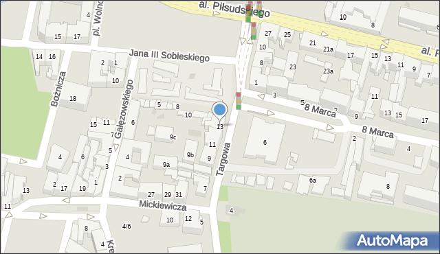 Rzeszów, Targowa, 13, mapa Rzeszów
