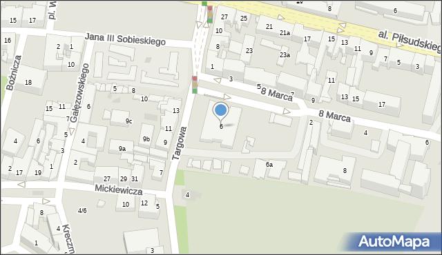 Rzeszów, Targowa, 6, mapa Rzeszów