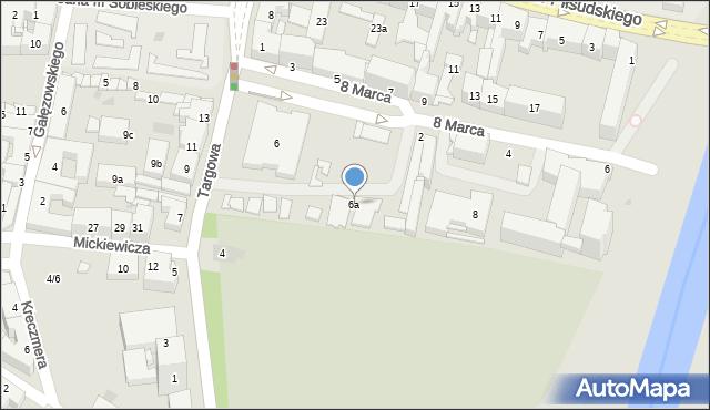 Rzeszów, Targowa, 6a, mapa Rzeszów
