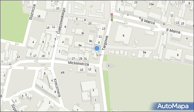Rzeszów, Targowa, 7, mapa Rzeszów