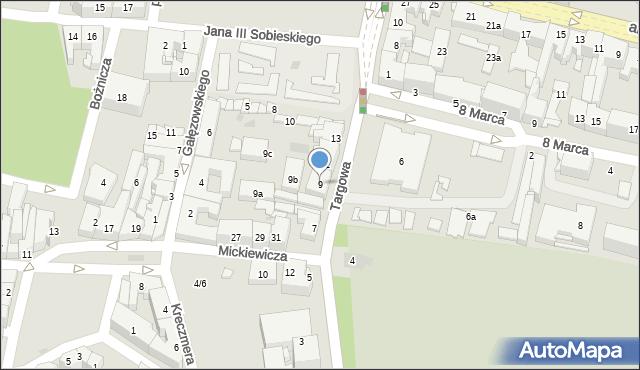 Rzeszów, Targowa, 9, mapa Rzeszów
