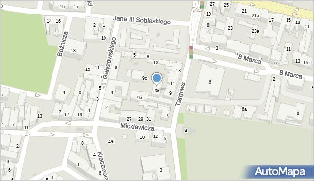 Rzeszów, Targowa, 9b, mapa Rzeszów