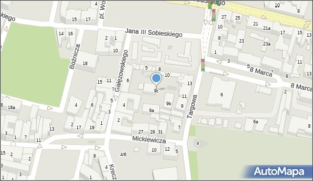 Rzeszów, Targowa, 9c, mapa Rzeszów