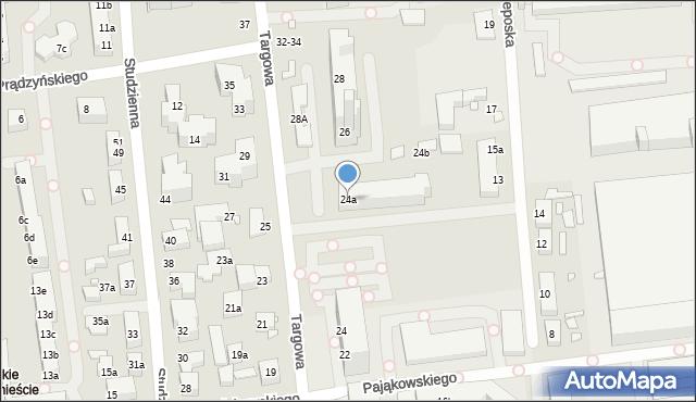 Toruń, Targowa, 24a, mapa Torunia