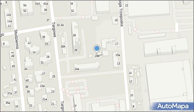 Toruń, Targowa, 24b, mapa Torunia