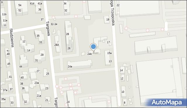 Toruń, Targowa, 24e, mapa Torunia