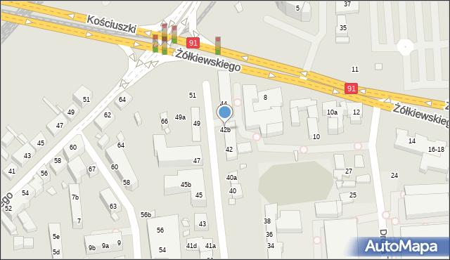 Toruń, Targowa, 42b, mapa Torunia