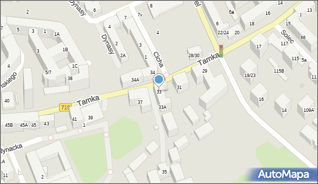 Warszawa, Tamka, 33, mapa Warszawy